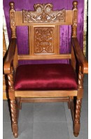 Wood Carved Armchair