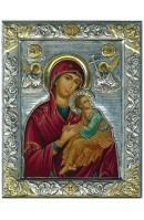 Virgin Mary of Passion Silver Icon - 20cm x 16cm x 2.8cm
