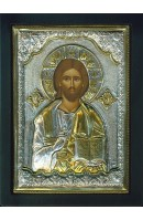 Icon of Jesus Christ - Sterling Silver - Gold Plated