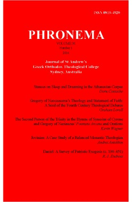 Phronema Volume 31, Number 1, 2016