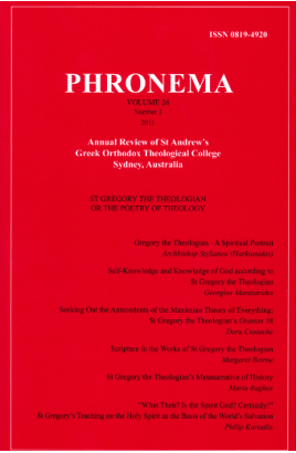 Phronema Volume 26, Number 2, 2011