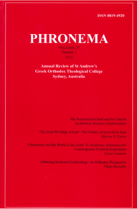 Phronema Volume 27, Number 1, 2012